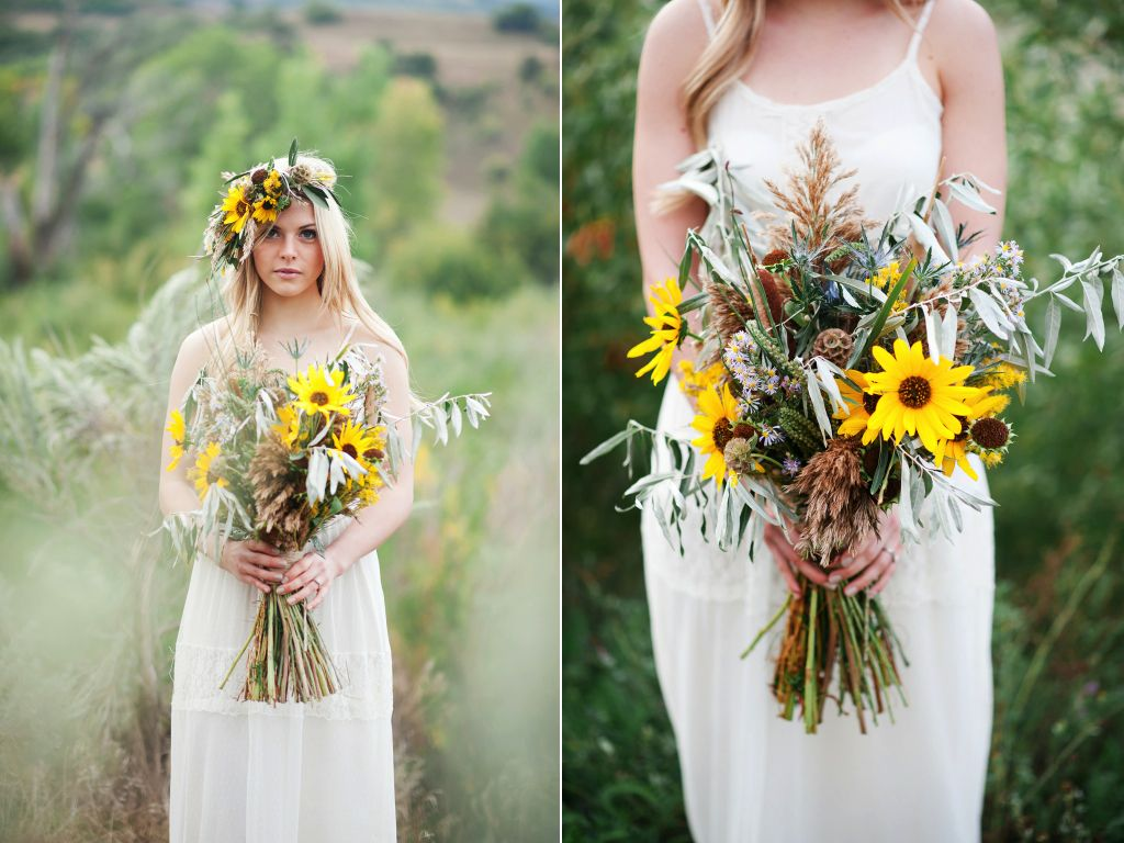 Desert Inspired Sunflower Wedding utah wedding florist calie rose