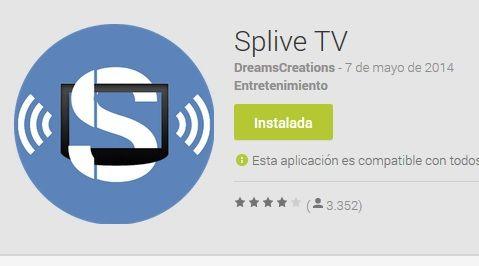 Instalar Splive Tv Tv Futbol Gratis Fútbol