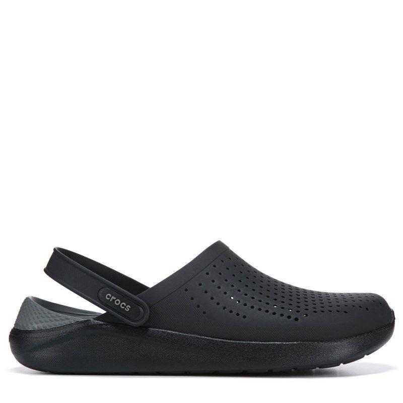 19f61159e4ab Crocs Men s Literide Clog Sandals (Black Grey)