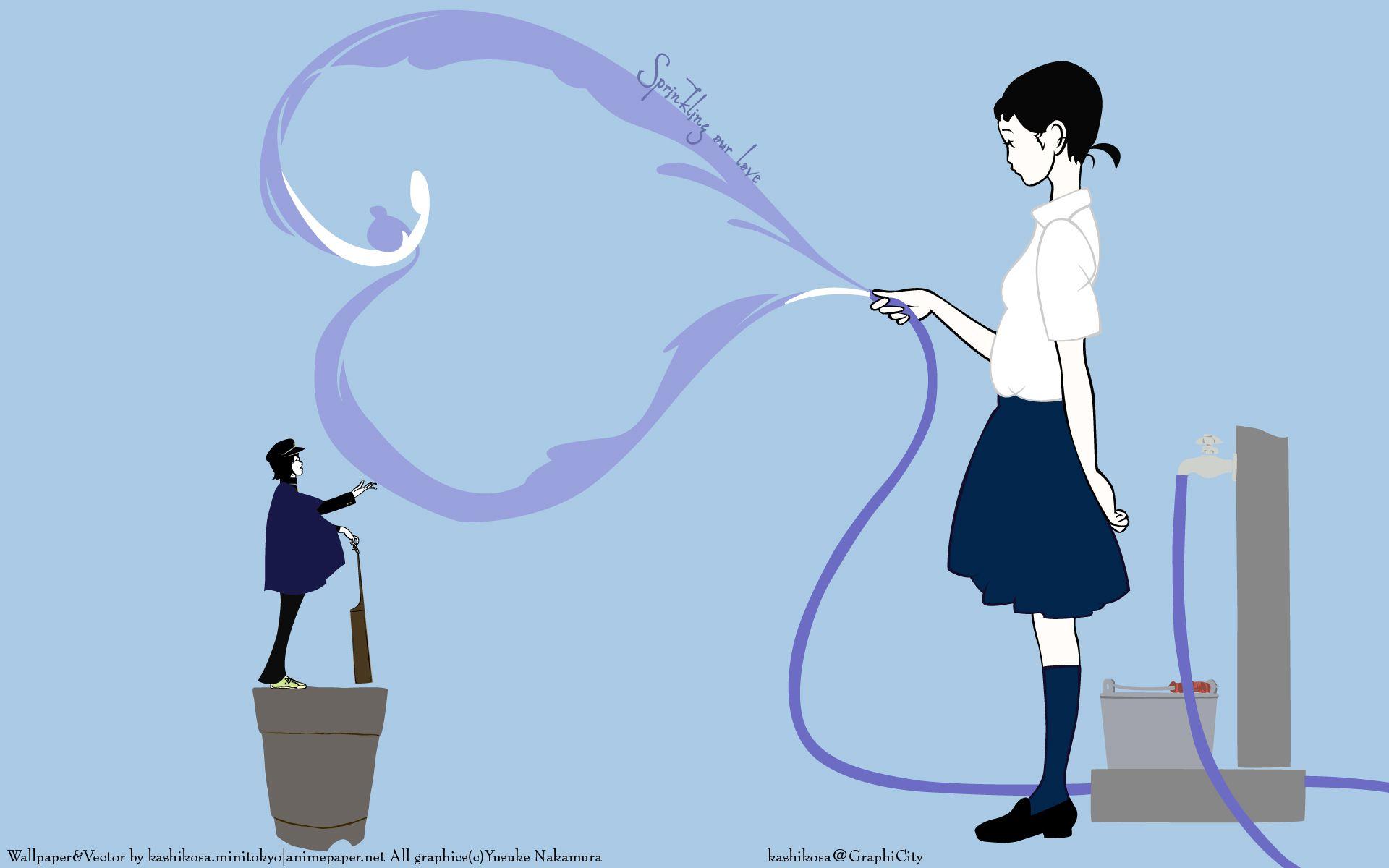 Download Yusuke Nakamura Wallpaper Love Needs Water 19x10 イラストアート 中村佑介 中村祐介