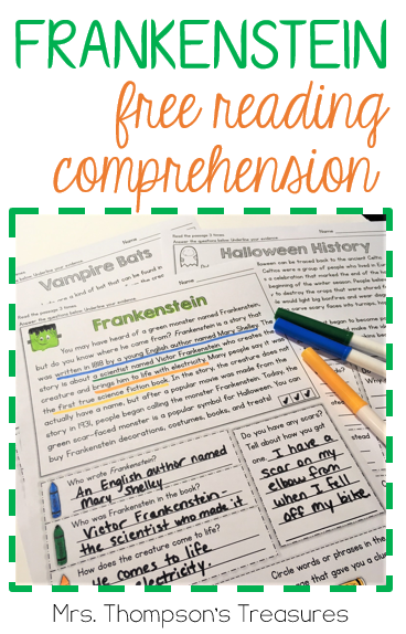 Free reading comprehension and questions about