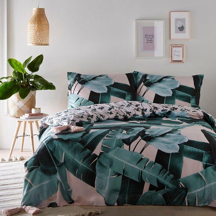 Martinique The Iconic Banana Leaf Pattern Bedding Sets Home Living Duvet Cover 130 Bed Linens Luxury Bed Linen Design Bed Linen Inspiration
