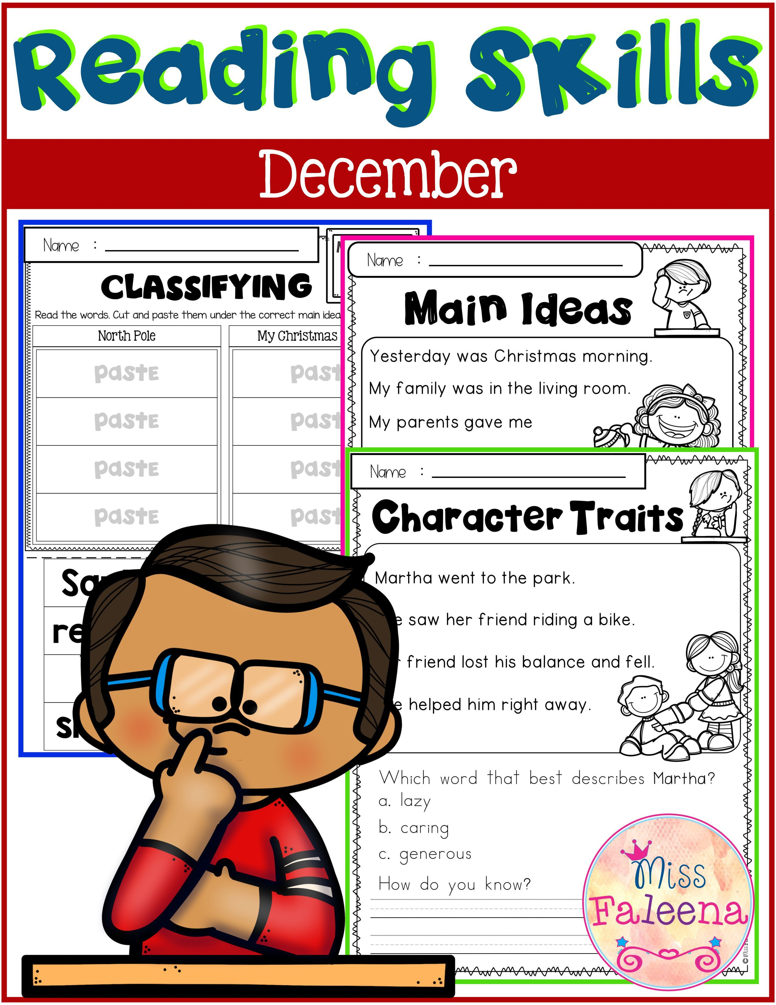 December Reading Skills With Images