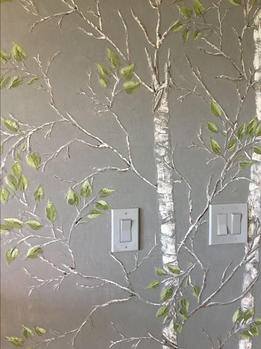 Plaster Stencil Aspen Tree Tree Stencil For Wall Plaster Wall Art Stencils Wall