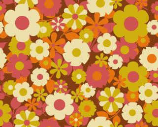 Pattern in the 70s Brown in 2019 Pattern wallpaper
