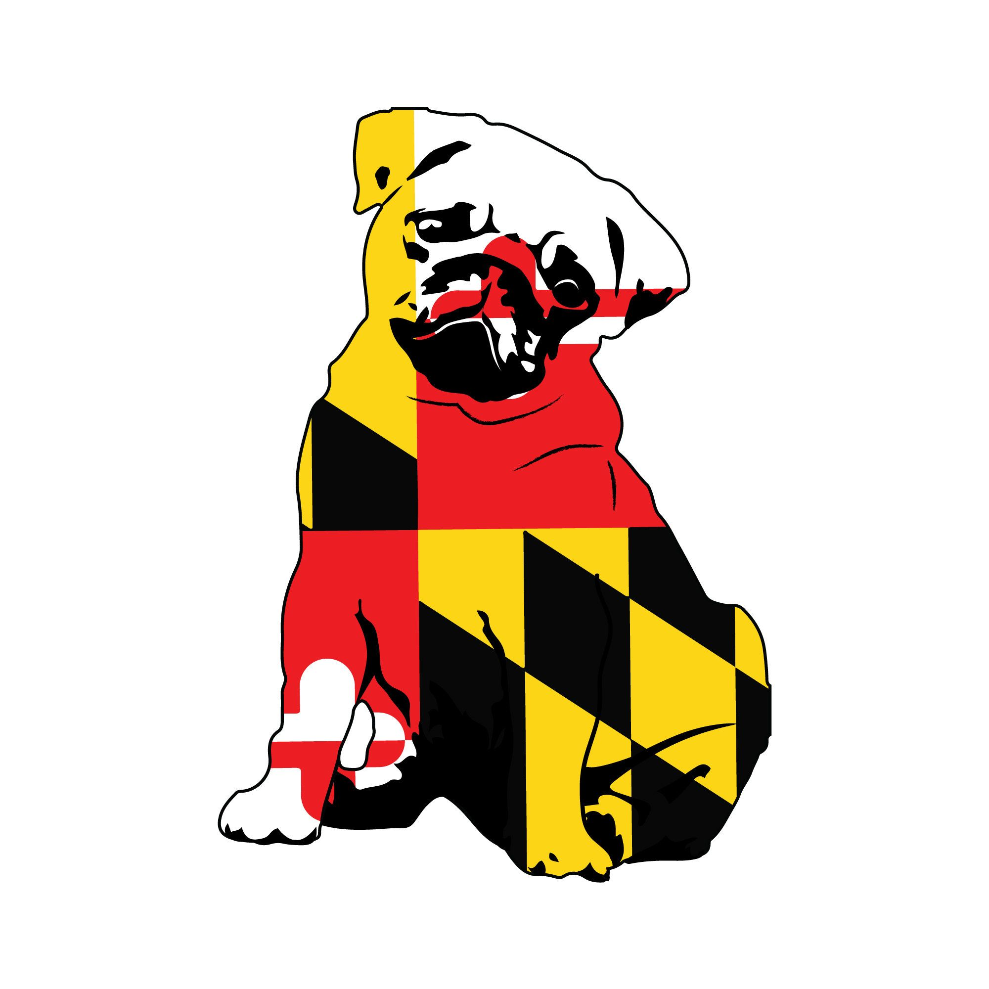 Chicken Vehicle Decal Maryland Flag Chicken Sticker Etsy Maryland Flag Decal Flag Decal Maryland Flag