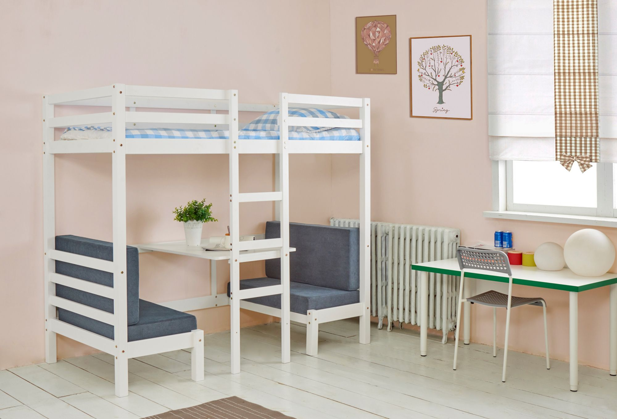 Single Loft Bed With Desk Desk Decorating Ideas On A Budget