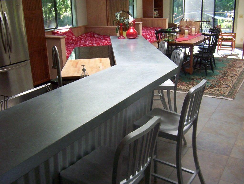 Galvanized Countertops Gray Kitchen Countertops Countertops Best Kitchen Layout
