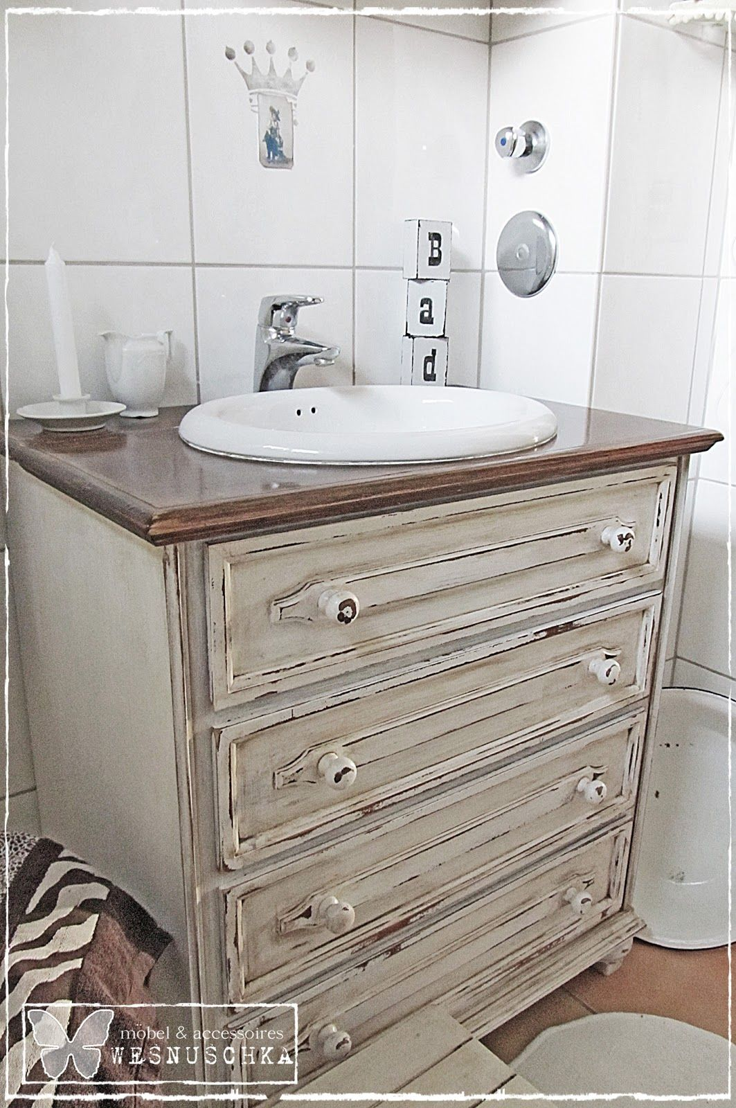 self-made sink | DIY Ideas | Pinterest | Waschtisch, Shabby und ...
