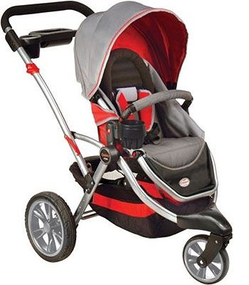 I like this stroller - you can flip the seat around to face you, or you can take it off and attach the carseat.
