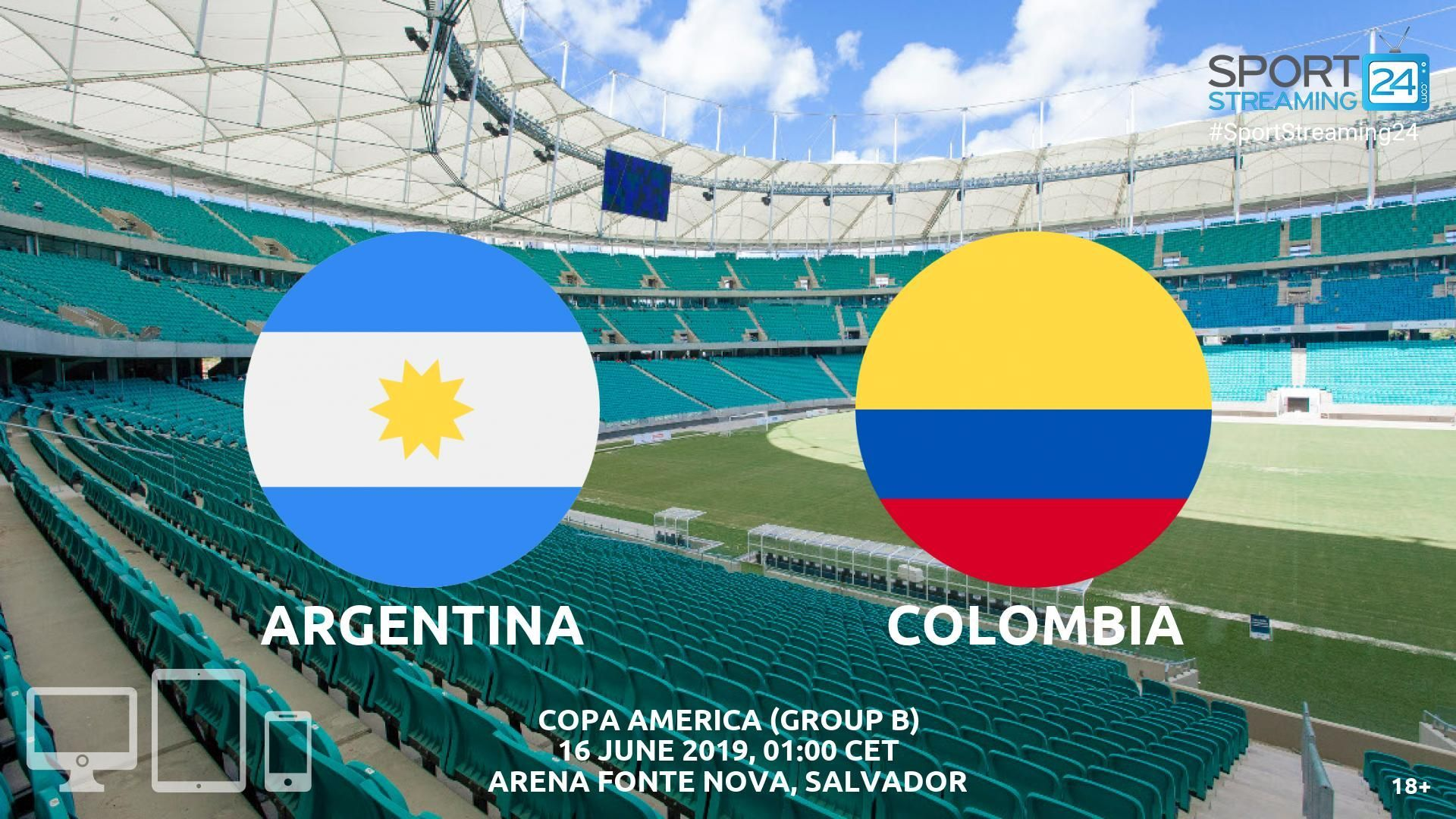 Argentina v Colombia Live Streaming Football Colombia