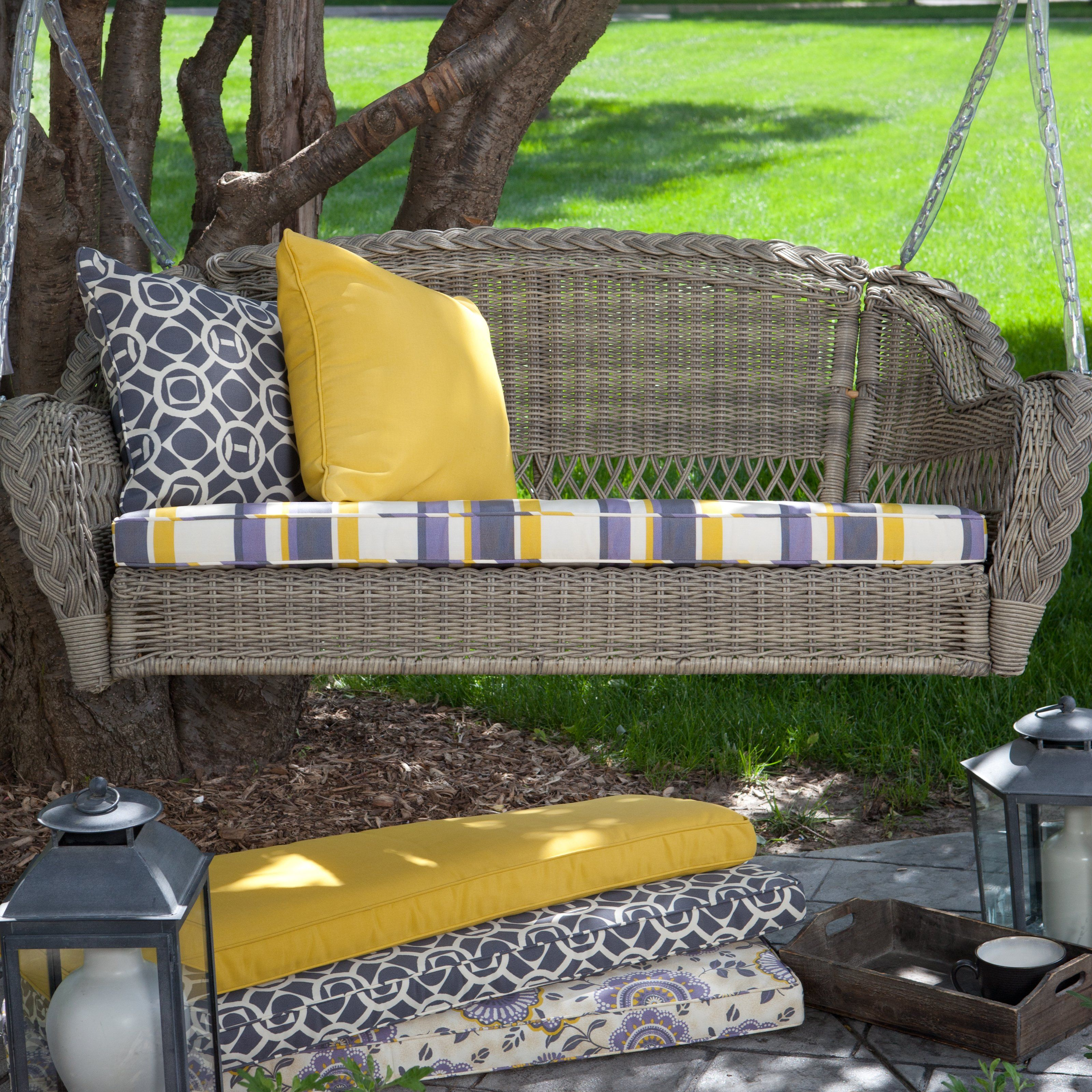 Have to have it Seabrook Resin Wicker Porch Swing with Optional