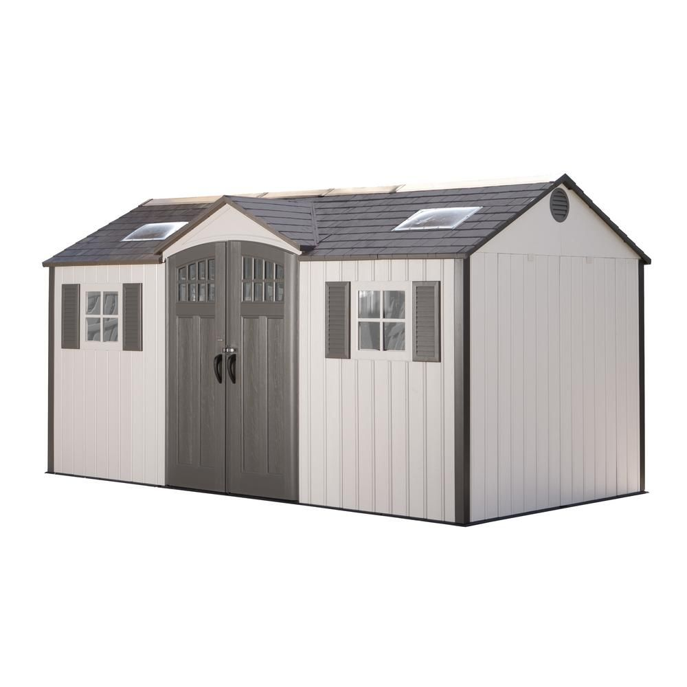 Lifetime 15 Ft X 8 Ft Garden Building Shed 60138 Building A Shed Outdoor Storage Sheds Shed Kits