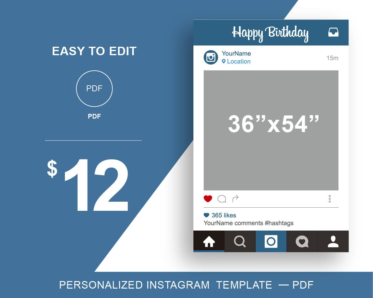 free instagram frame party template in photoshop and powerpoint