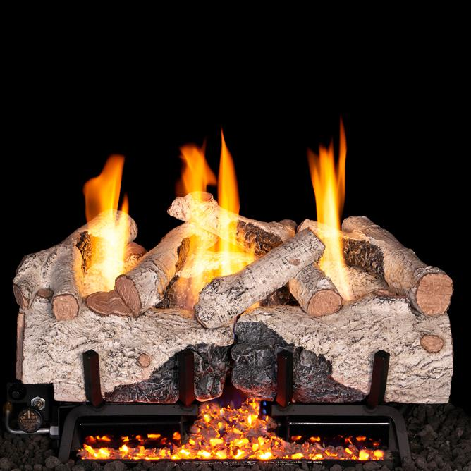 Peterson Real Fyre 24 Charred Alpine Birch Gas Log Set With Vent
