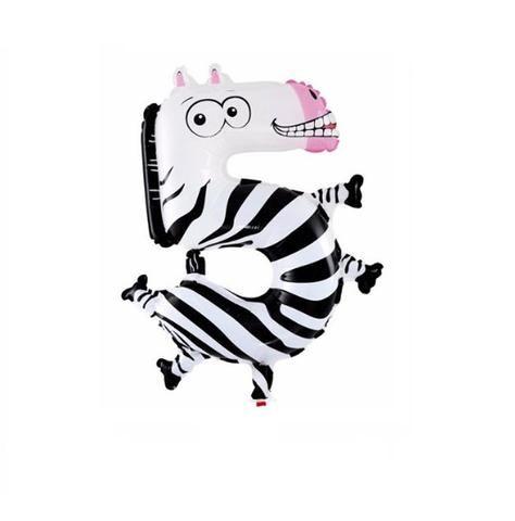 Animal Number Balloons For Kids Birthday Party-Monkey, Puppy Dog, Giraffe, Fox, Snake, Zebra, Alligator, Cat, Lizard