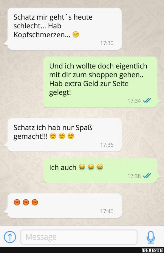 Whatsapp nachricht an schatz
