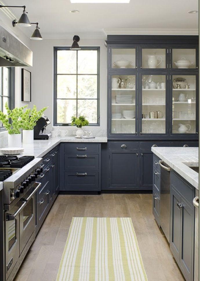 white-cabinet-kitchen-design-ideas-blue-grey-painted-kitchen ...