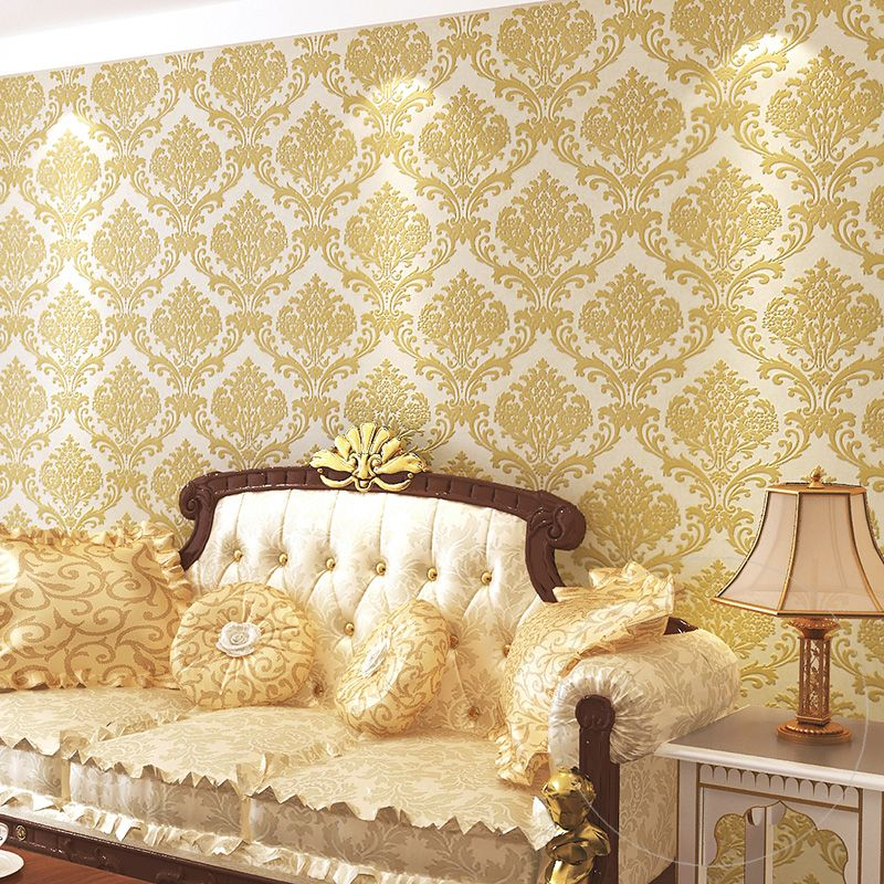 Cheap Wallpapers On Sale At Bargain Price Buy Quality Wallpaper Style Wallpaper Over Wallpaper Wallp Wallpaper Over Wallpaper Damask Bedroom Cheap Wallpaper