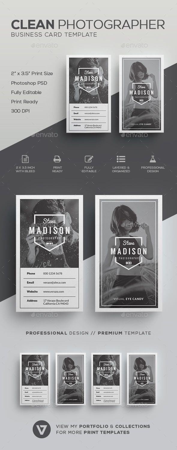 Photography Business Card | Photographer business cards, Card ...