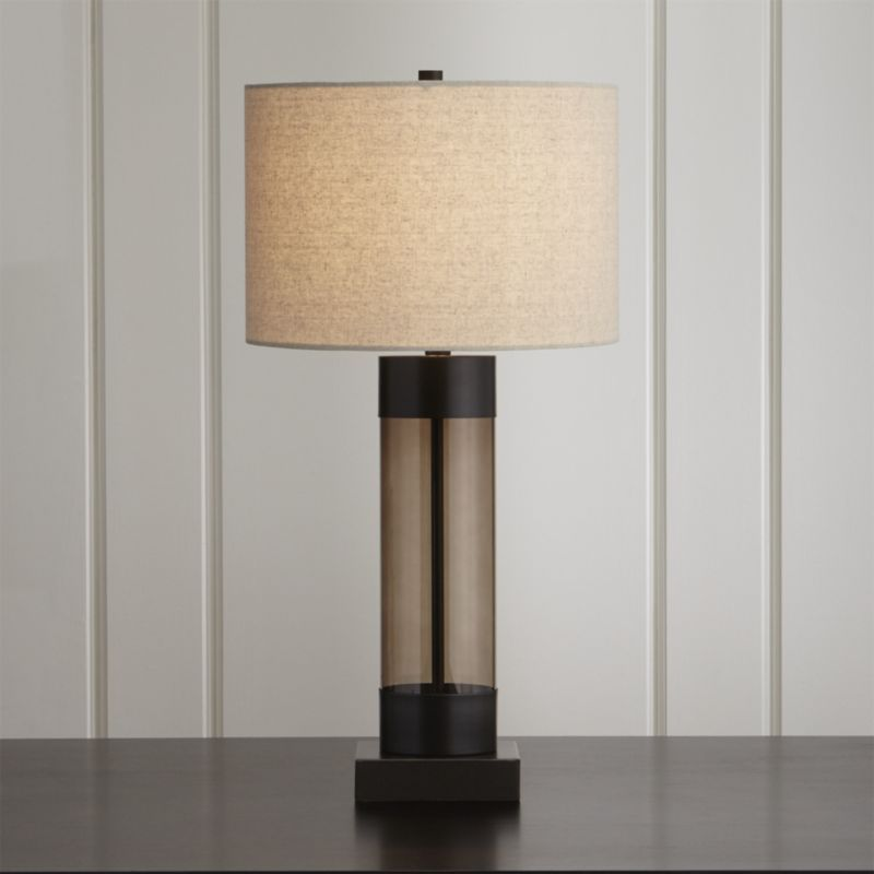 Avenue Bronze Table Lamp With Usb Port Reviews Crate And Barrel Bronze Table Lamp Nickel Table Lamps Table Lamp