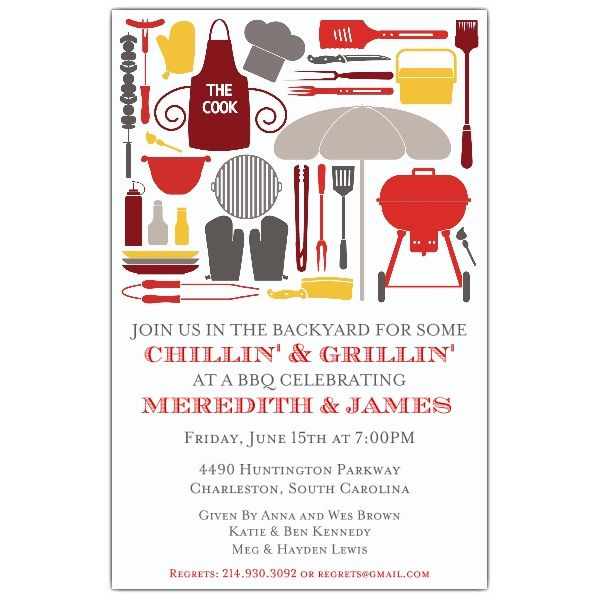 cookout silhouettes bbq invitations paperstyle cook out