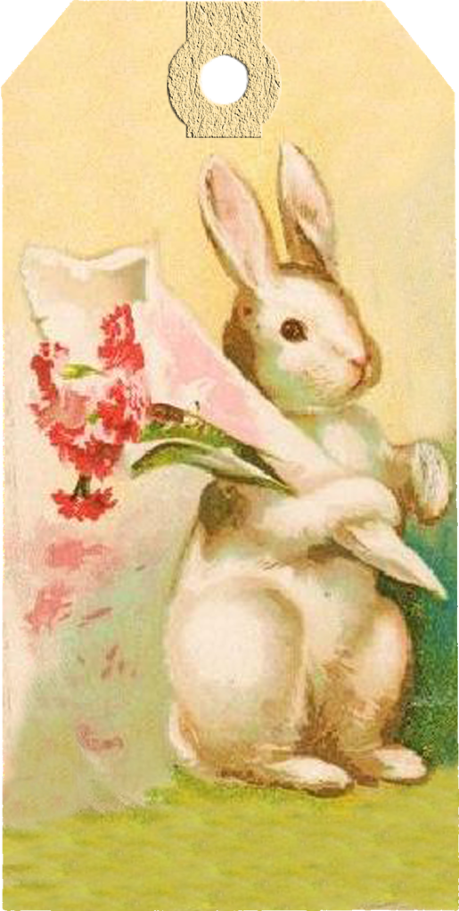 Vintage easter bunny tags free printables freebies printable vintage easter bunny tags free printables negle Images