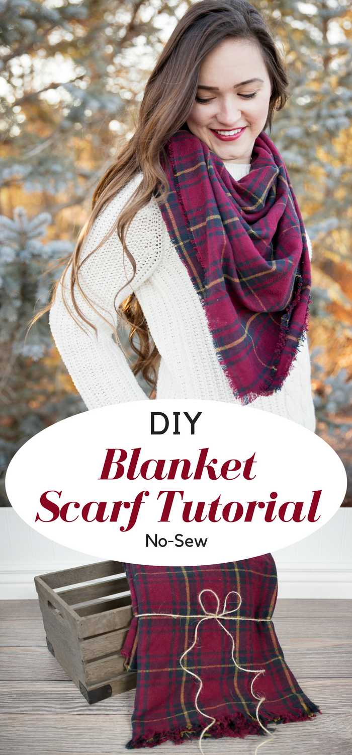 Diy Plaid Flannel Blanket Scarf Tutorial Diy Blanket Scarf Diy