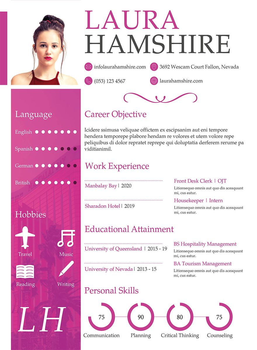 10+ Simple Fresher Resume Templates