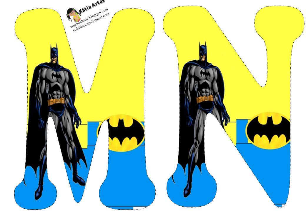 Oh my alfabetos alfabeto de batman en fondo amarillo y - Murcielago para imprimir ...