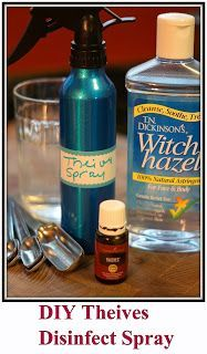 Diy Thieves Disinfect Spray Essential Oils Cleaning Essential