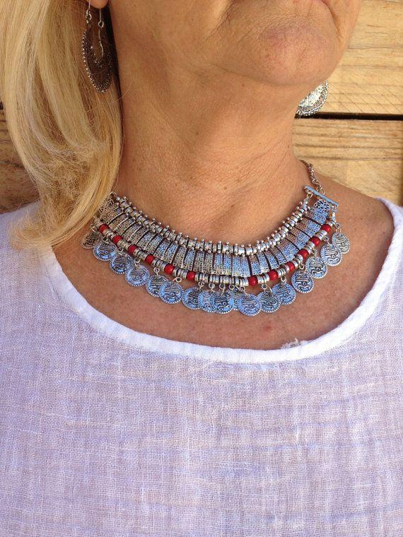 Collar BohoGargantilla aleación de plata con por MartaDissenys