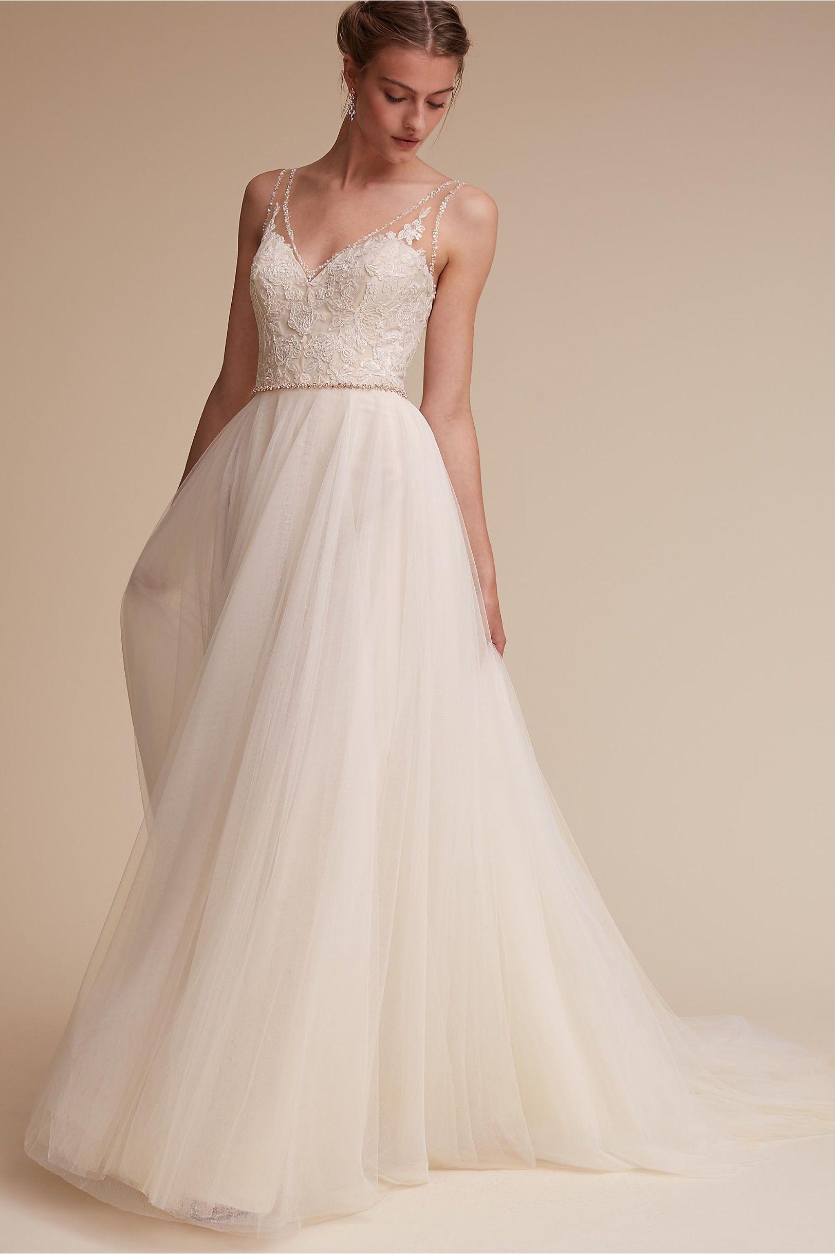 BHLDN\'s Watters Cassia Gown in Ivory/champagne | Brautkleid, Wedding ...