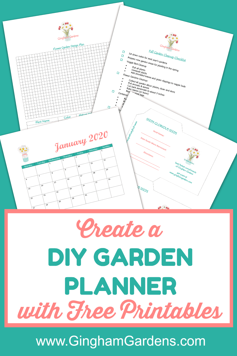 Diy Garden Journal And Planner Gingham Gardens Gardening Journal Printables Garden Journal Garden Planner