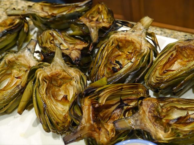Smoked Artichokes with Chipotle Aioli - Gathering Around The Grill