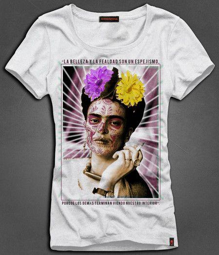 Camiseta Feminina Frida Kahlo - Beleza Interior - USECAPSULA