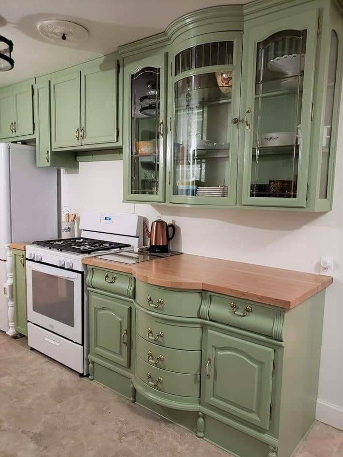 Kitchen Remodel Repurposed China Cabinet, Kitchen Cabinet Hutch Ideas