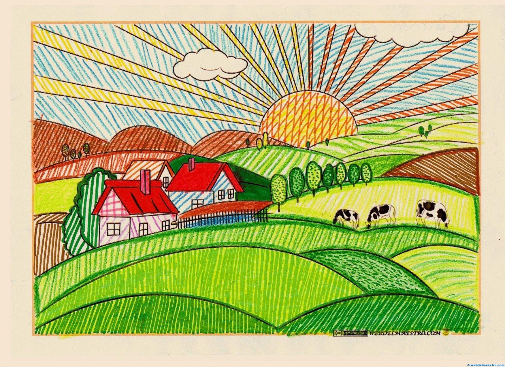 Paisajes Para Pintar Web Del Maestro Paisaje Para Pintar Dibujos Para Colorear Paisajes Dibujos Para Pintar Paisajes
