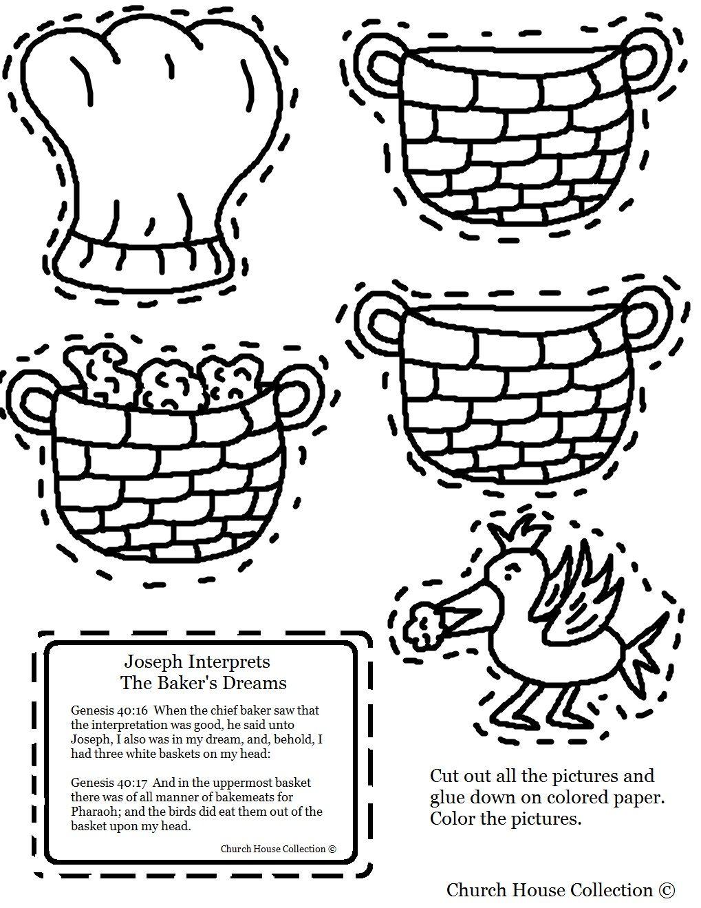Joseph Interprets The Baker S Dreams Cutout Sheet Craft Sunday