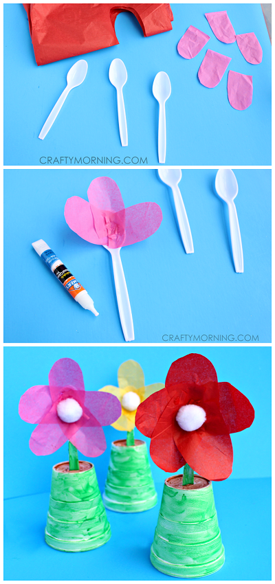 Spoon flowers for a mother 39 s day gift spoon flower for Art and craft flowers
