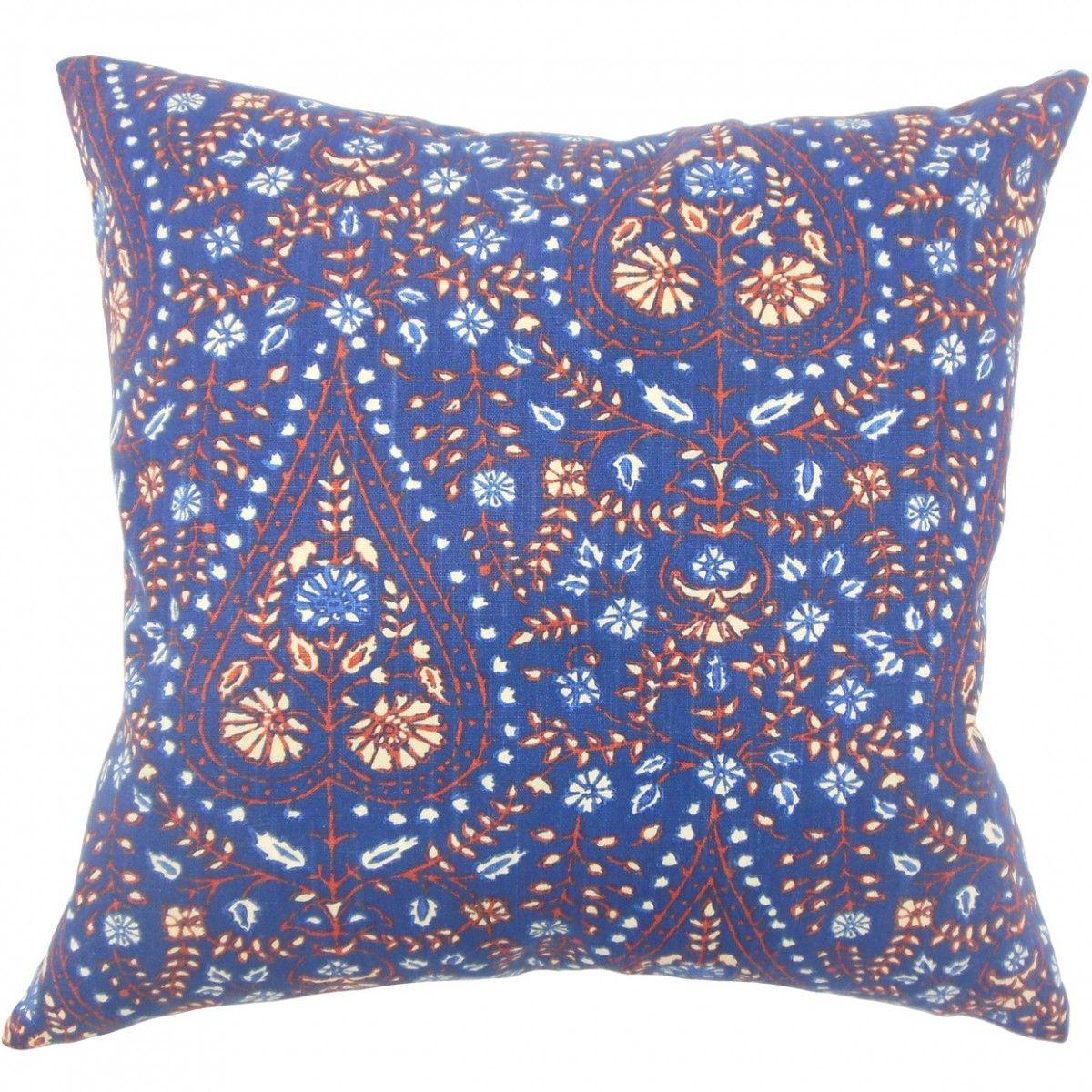 Jaetyn Ikat Pillow Indigo Silk Throw Pillows Cotton Throw Pillow Throw Pillows