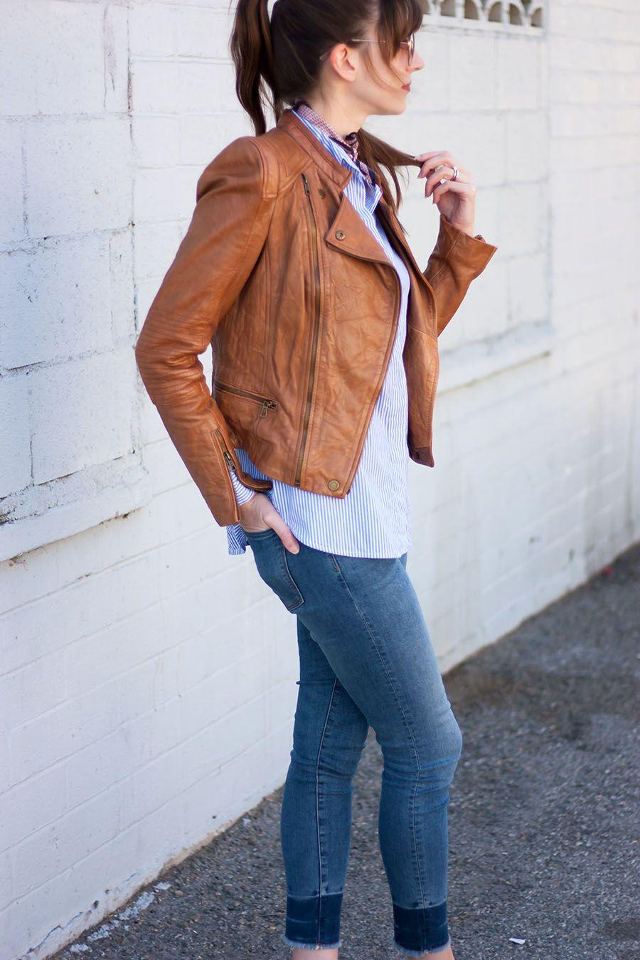 Zara Cognac Leather Jacket Los Angeles Street Style Leather Jacket Los Angeles Street Style Jackets