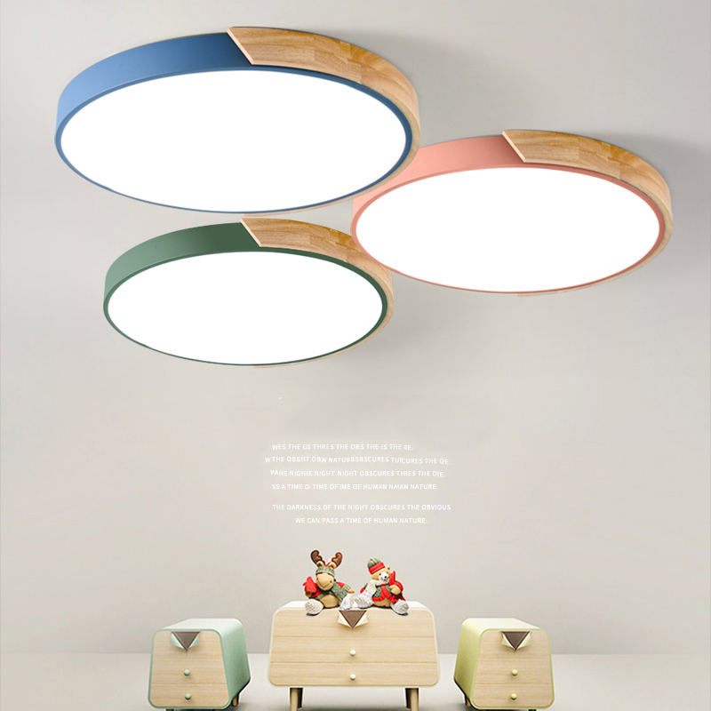 Nordic Dimmable Wood Ultra Thin Modern Led Ceiling Lights In 2020