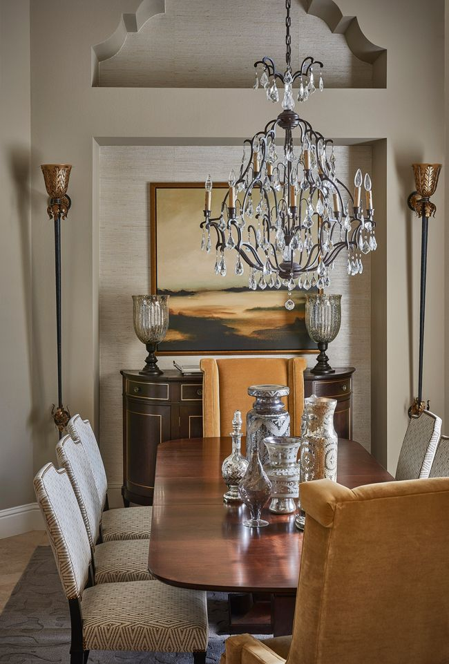 Anne Rue Interiors | Legacy Hill | Dining Room host and hostess ...