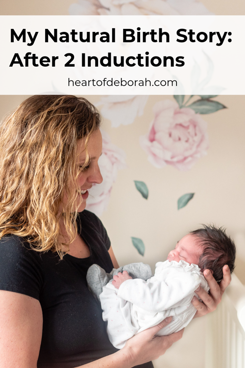 My Natural Birth Story After 2 Inductions Birth Stories Natural Birth How Big Is Baby