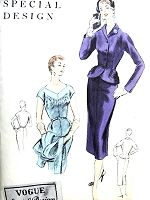 1950s STUNNING Dress and Fitted Jacket Pattern VOGUE Special Design 4542 Lovely Day or Cocktail Evening Dress Bust 34 Vintage Sewing Pattern