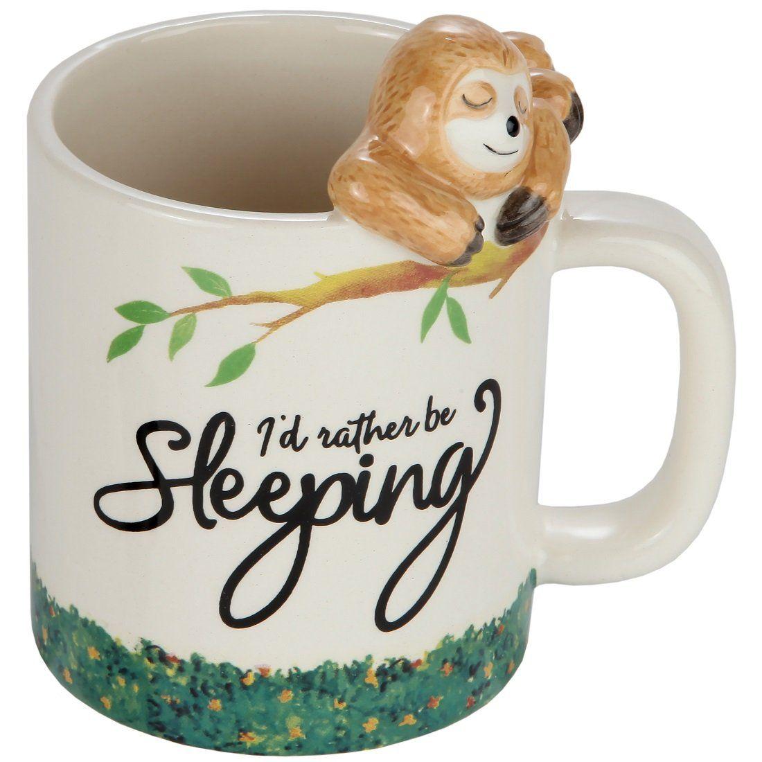 Cute Sloth Animal Sloffee Gift Idea White Fine Bone Ceramic 11 Oz Funny Coffee Mug Tea Cup Inspirational Quote for Men Women