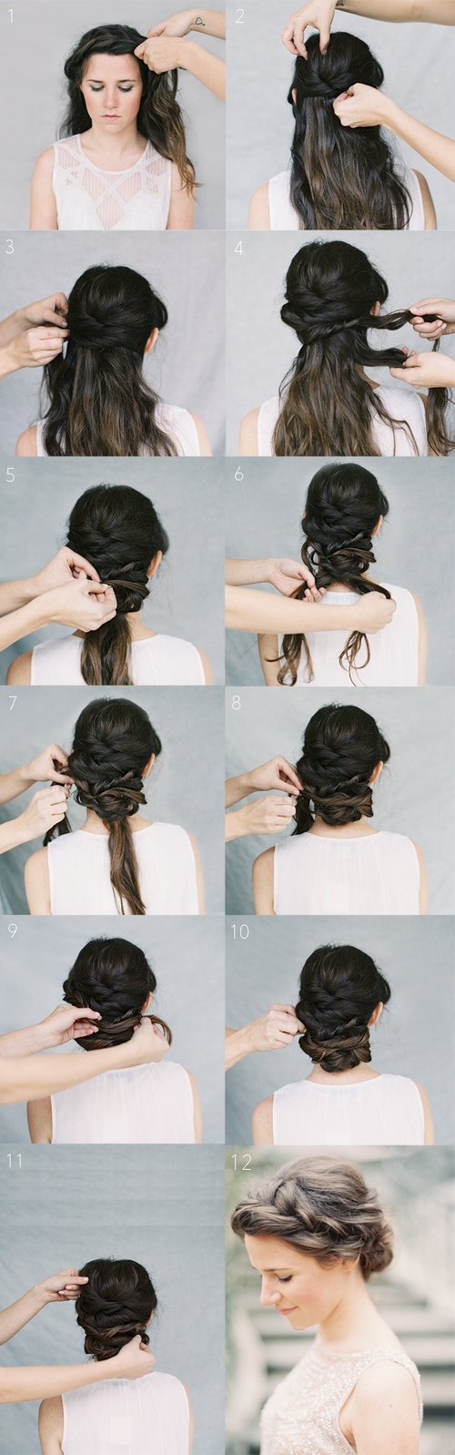 Crown Braid Wedding Hairstyles for Long Hair / Braid Wedding ...
