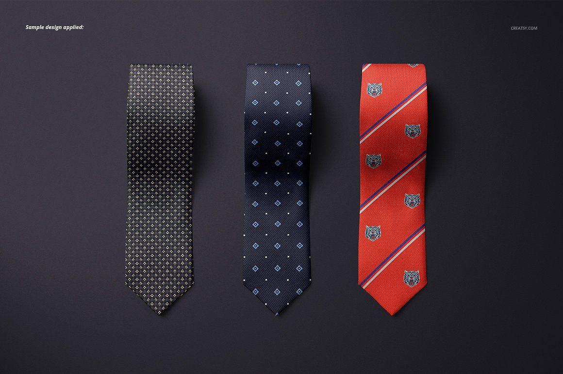 Gentelman Pack V 1 Tie Mockup Set