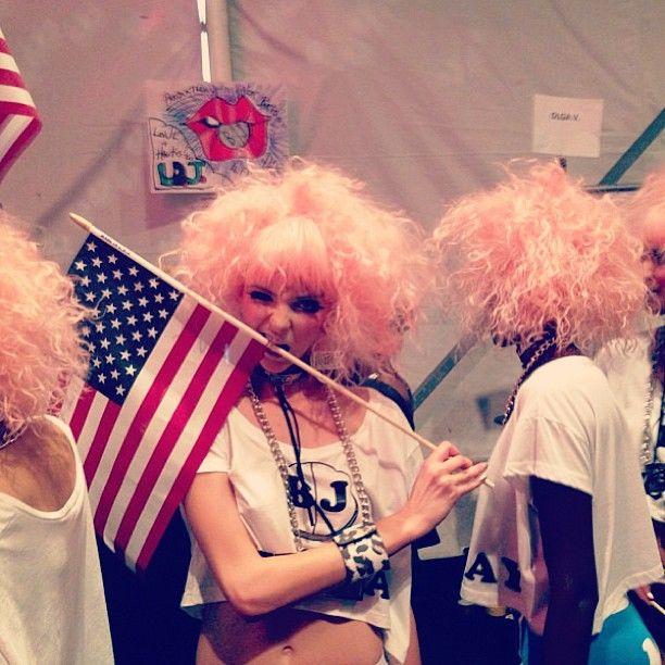 Gotta love 'merica. #nyfw #betseyjohnson @Marcia McCorkell Model Management #BJ1ADay